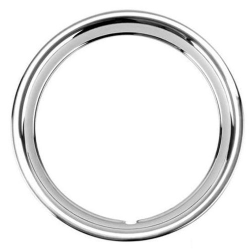 "15"" Ford Ribbed Stainless Steel Wheel Trim Beauty Ring, Each"