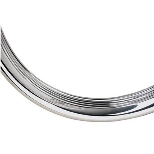 "16"" Ford Ribbed Stainless Steel Wheel Trim Beauty Ring, Each"