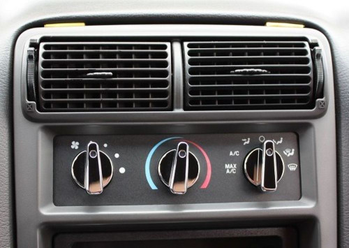 Chrome Billet A/C Knobs, Compatible with Ford Mustang 1994-2004