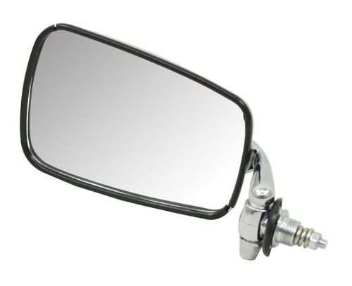 Mirror, Left/Driver Side, Chrome, Compatible with VW Bug Late 1968-1977