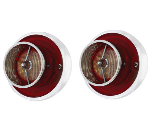 (2) 1963 Chevy Impala LED Backup Light with Housing, 26 Super Bright LEDs, Pair