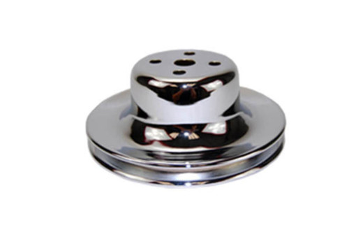 1965-66 SB Ford 289 Chrome Steel Single Groove Water Pump Pulley
