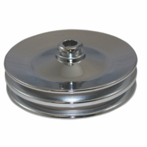 GM & Chevy 67-84 Chrome Steel Double Groove Power Steering Pulley