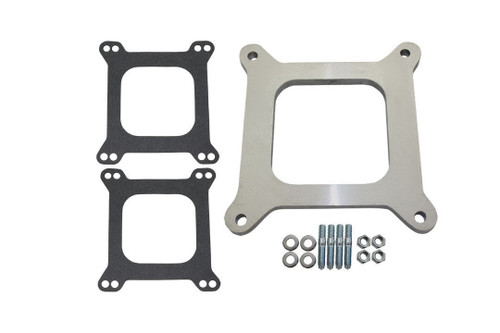 "3/8"" Open Square Aluminum Carburetor Spacer, Fits Edelbrock/Holley/SBC/BBC/Chevy"