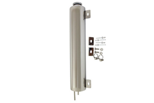 3 X 16 Polished Stainless Steel Radiator Overflow Tank Universal Fit