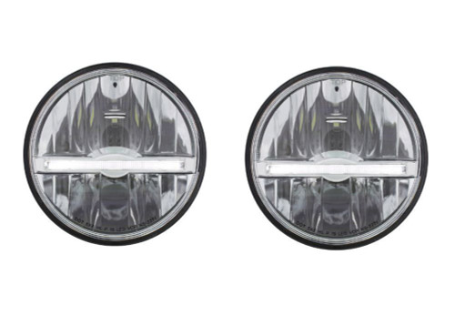 "(2) 5-3/4"" LED Headlight with LED Position Light Bar, Pair"
