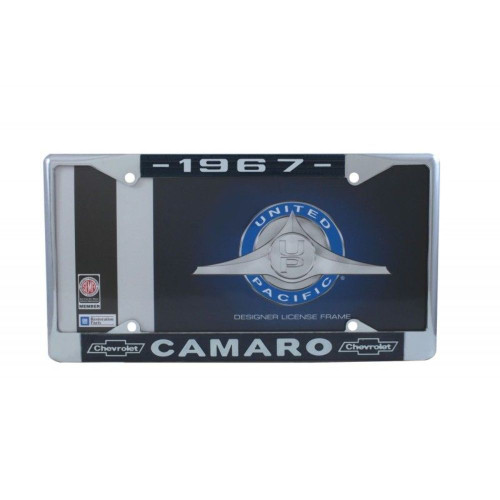 """1978 Chevy """"Camaro"""" Chrome License Plate Frame with Year and Chevrolet Bowtie"""