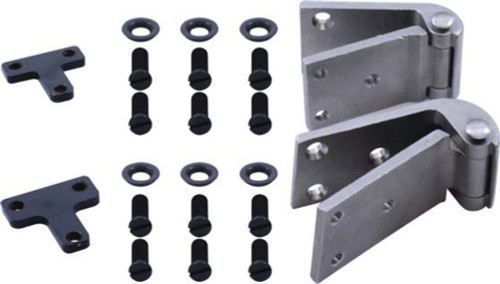 1932 Ford Closed Car Door Hinge Set, Left (Exc. 3W)