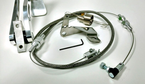 """Gas Pedal, 36"""" Braided Throttle Cable, Firewall Mount Kit"""