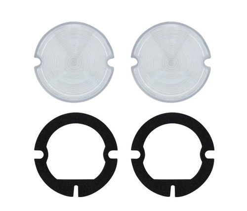 (2) 1951-1953 GMC Truck Parking Light Lenses With Gaskets, Clear Lens, Pair