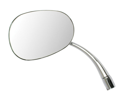 1953-1967 VW BUG BEETLE NEW CHROME STOCK REPLACEMENT MIRROR OVAL LEFT 98-8581