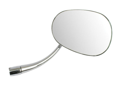 1953-1967 VW Bug Beetle New Chrome Stock Replacement Mirror Oval Right 98-8582