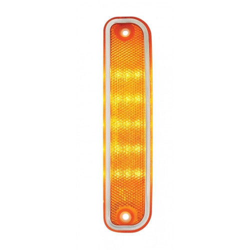 1973-80 Chevy GMC Truck Front LED Side Marker Light with Trim - Amber 74 75 76