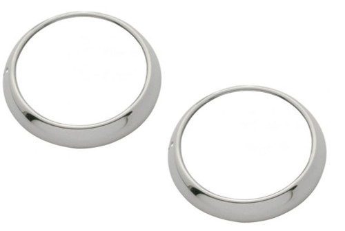 Headlight Bezels, w/ Gaskets, Clips, Stainless, Fits Chevy Pick Up Truck 1947-55