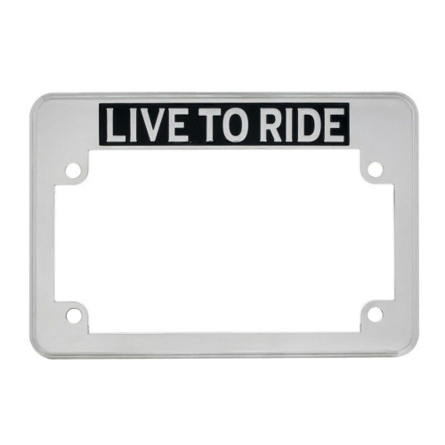 """Live to Ride""  Motorcycle License Plate Frame -Fits: HARLEY CHOPPER TRIUMPH MOR"