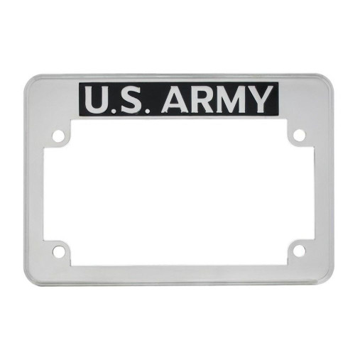 """U.S. Army""  Motorcycle License Plate Frame -Fits: HARLEY CHOPPER TRIUMPH MORE"