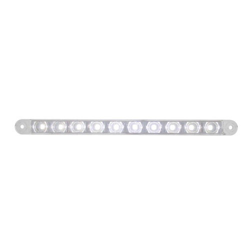 "10 LED 9""  Auxiliary Light Bar - 3 Wire - White LED - Universal Trailer Camper R"