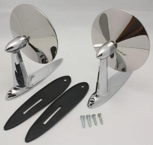 1955-57 Chevrolet DOOR Mirrors Chevy Bel Air 2pc Set