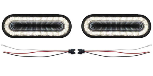 "(2) 24 Led 6"" Oval ""Mirage"" Back-Up Light - Universal Truck Trailer RV Custom"