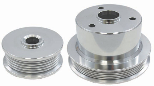 1994-1996  Chevy Truck 454 7.4L Polished Aluminum Serpentine Pulley Set