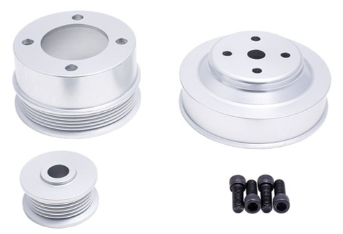 1979-1993 Ford Small Block 302 5.0L Mustang Polished Aluminum Serpentine Underdrive Kit