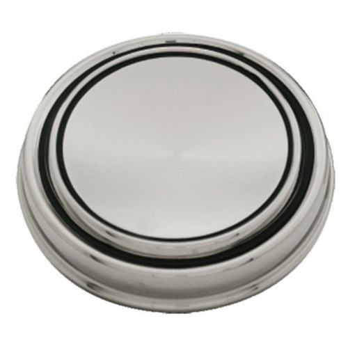 1967-68 Ford Mustang Stainless Steel GT Plain Style Hub Cap