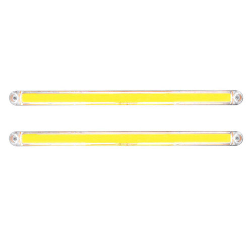 "(2) 24 Led 12"" Light Bar W/ Chrome Housing - Glo Light  -  Amber Led / Clear Len"