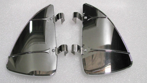 Vintage Style Chrome Accessory Vent Wing Air Deflector Breeze Breezies Pair
