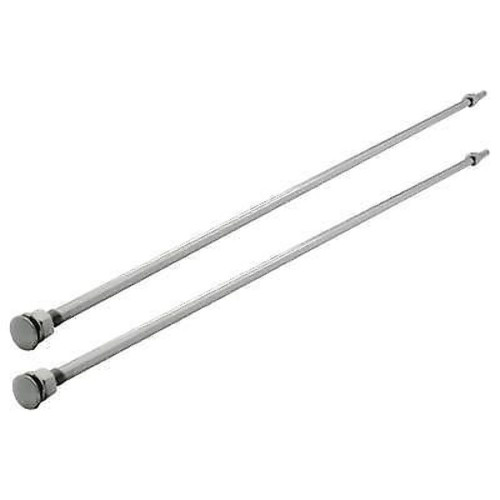 """1928-31 Ford Model A Polished Stainless Steel 26"""" Radiator Support Rods Pair"""