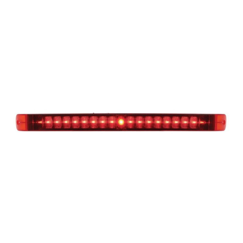 "17""  LED Tail Light Bar - Red LED & Lens - 19 LED with Stop/Turn/Tail Light Func"