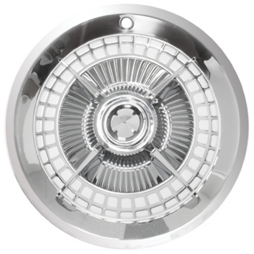 "14"" Lancer Hubcap with Chrome Center Bullet, Set Of 4"