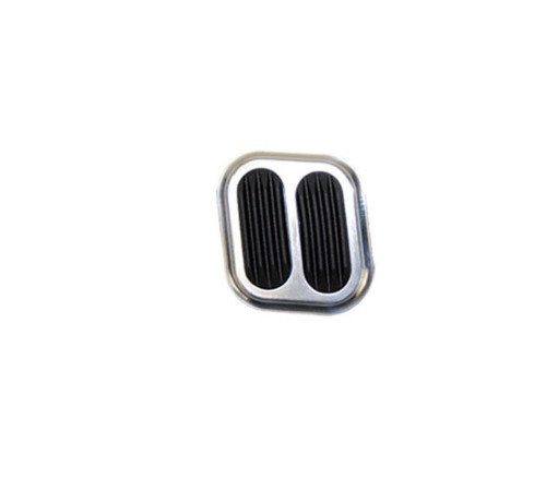 Polished Aluminum Street Rod Dimmer Pad W/Rubber