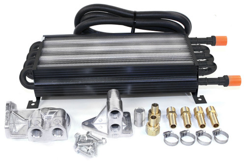 8 Pass Oil Cooler Complete Kit W/Dual Booster Kit, Fits VW Sand Rail Dune Buggy, EMPI 9221