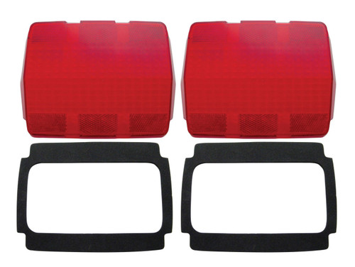 (2) 1964-66 Ford Mustang Tail Light Lenses w/ Black Foam Gaskets