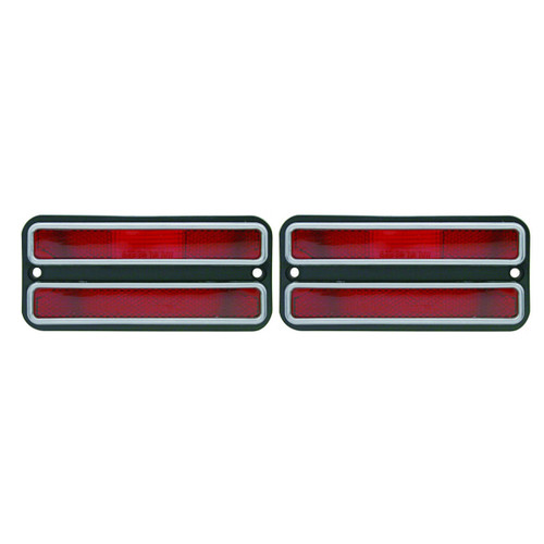 (2) 1968 - 1972 Chevy Truck Red Clearance Side Marker Light Housings / 69 70 71