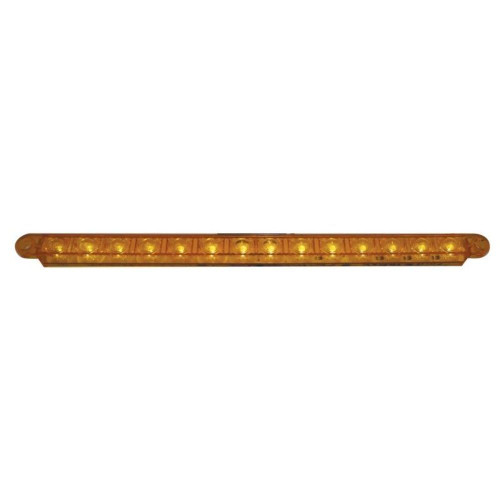 """14 LED 12"""" Sequential Auxiliary/Utility Light Bar Amber LED w/ Amber Lens"""