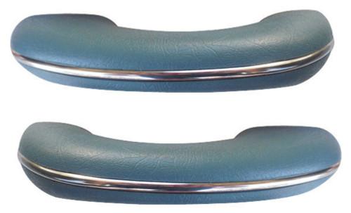 TMI VW BUG BEETLE TYPE 1  Arm rests, 58-67, Type 1 , #24 WATER BLUE, PAIR