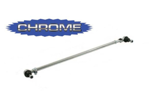 Tie Rod, Right, Chrome, Late w/o Damper Provision, Fits VW Beetle Bug Baja