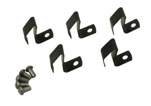 Hub Cap Repair Kit, Replacement Clips, Set of 5, Compatible with VW Bug Type 1 50-65, Ghia 56-65, Type 2 50-67 - 98-6982-B