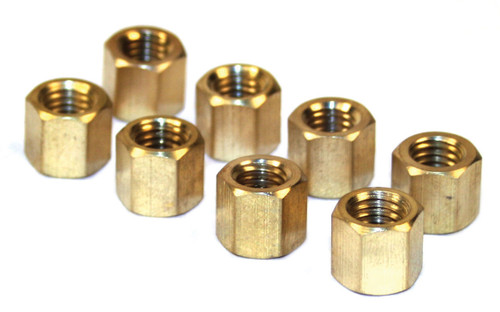 EMPI  VW BUG BUS BRASS EXHAUST NUTS, SET OF 8  43-6051