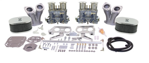 43-8319-0 EMPI DELUXE DUAL 44IDF KIT, WITH VELOCITY STACKS, TYPE 1