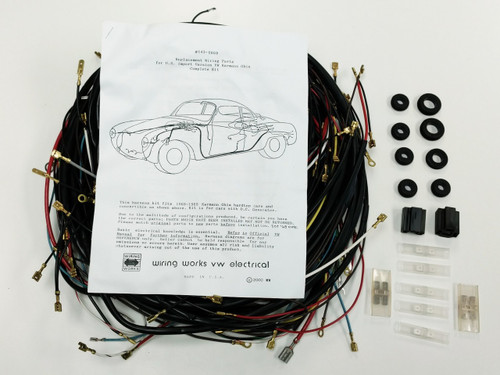 1968-1969 ALL Karmann Ghia VW COMPLETE Wiring Works Wire Harness Kit - USA MADE