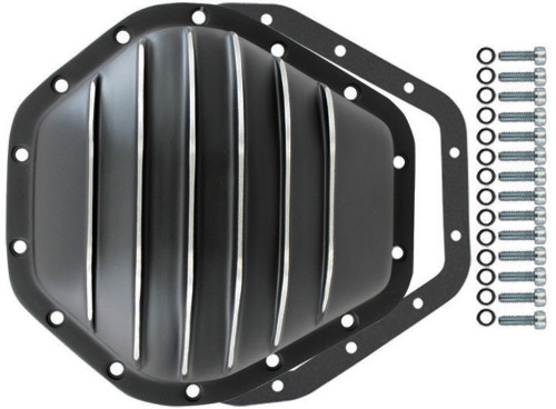 """Black Aluminum Chevy GMC 14 Bolt Diff  10.5"""" RG Differential Cover 2500HD 3500HD"""