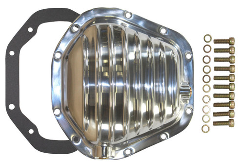 """Polished Aluminum Dana 60 Rear 9.75"""" Ring Gear Differential Cover Mopar Ford Che"""