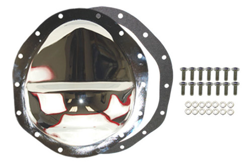 """Chrome Steel Chevy GM 14 Bolt 9.5"""" RG Diff  Differential Cover"""