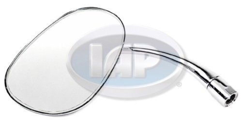 1953-1967 VW BUG BEETLE NEW CHROME STOCK REPLACEMENT MIRROR OVAL LEFT