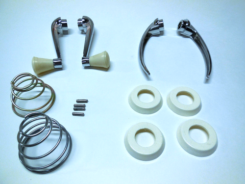 Window Crank/Door Handle Complete Kit, Ivory, Fits VW 1946-1967 Beetle, KT-1052
