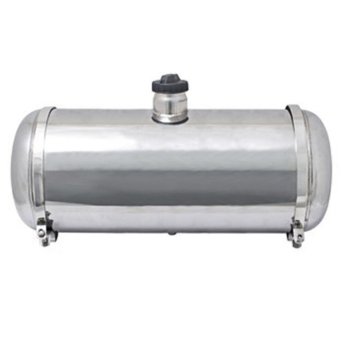 "00-3795-0 S/S GAS TANK, 8"" X 24"", CENTER FILL, 5 GALLON"