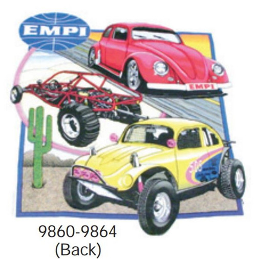 00-9860-0 EMPI T-SHIRT, 3 CAR (Front: EMPI Logo Only), SMALL