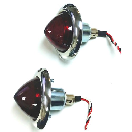 (2) Custom Baby Bullet Tail Lights - Park/Turn/Clearance - Hot Rat Street Rod